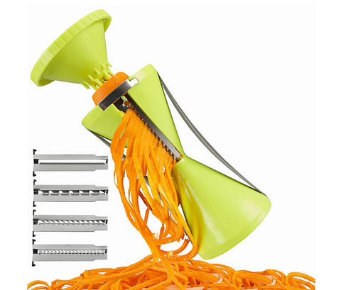 Vegetable Spiralizer with 4 Settings - Easy to Handle in Slicers