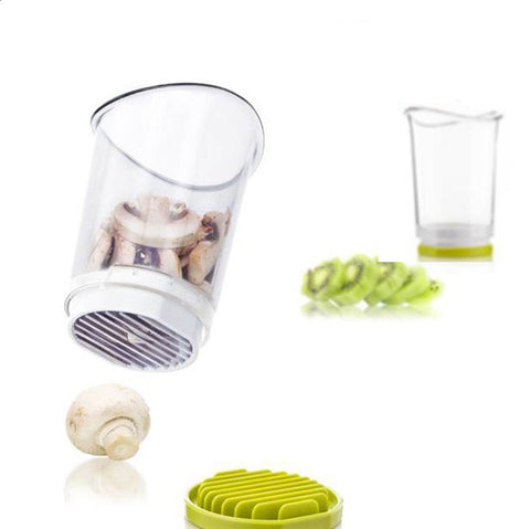 Stainless Steel Slicer Cup - Great for Mushrooms, Olives, and Strawberries in Slicers