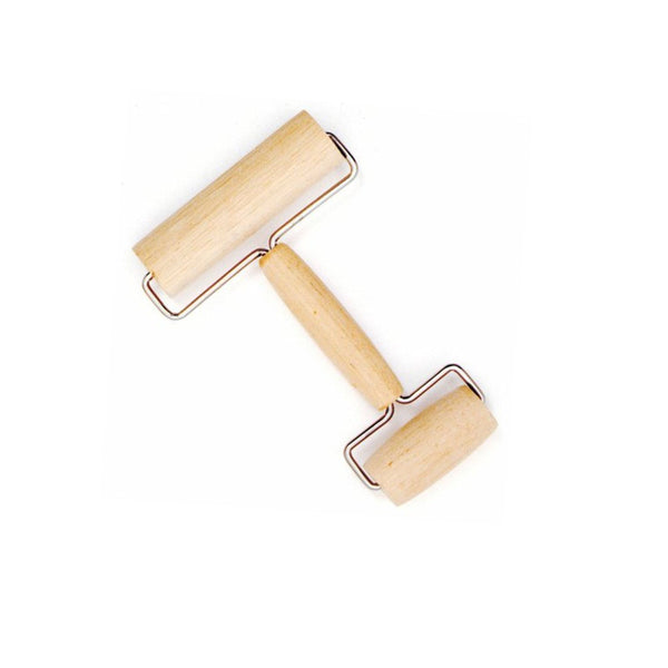Wood Hand Rolling Pin - 2 Sizes on 1 Gadget in Baking Tools