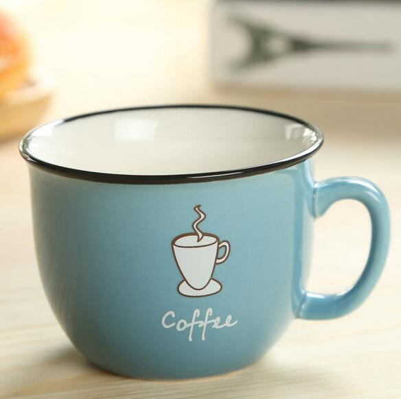 8oz Ceramic Mugs - 4 Designs Available in Coffee Cups