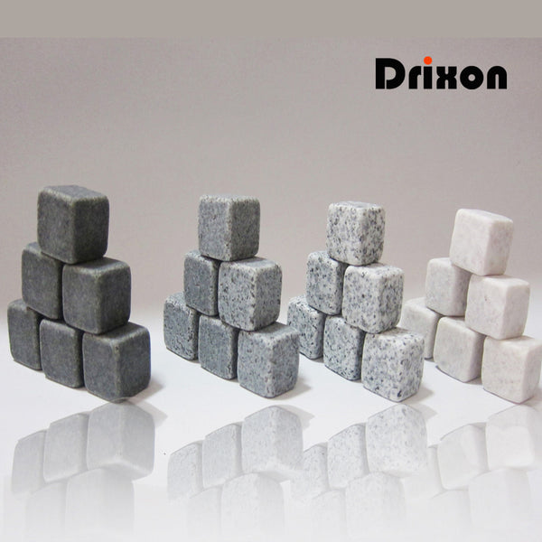 Drixon 100% Natural Whiskey Stones - Don't Dilute Your Drinks in Bar Accessories