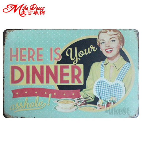 Tin Signs - Kitchen Decor - Collection 4 in Kitchen Decor