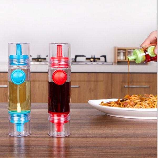 2 in 1 Oil Sprayer and Dispenser - Red - Great for Vinegar and Lemon Juice Too!