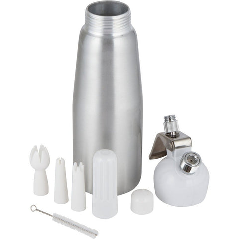Whip Cream Dispenser with Decorating Nozzles - Baker's Gadget in Dispenser