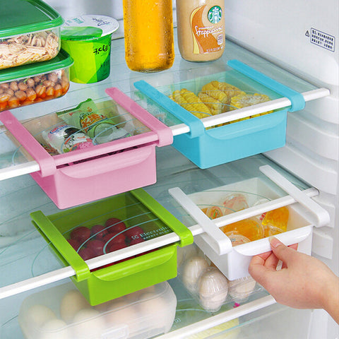 Slide Storage Boxes - Add Space to Fridge, Freezer or Pantry in Food Storage