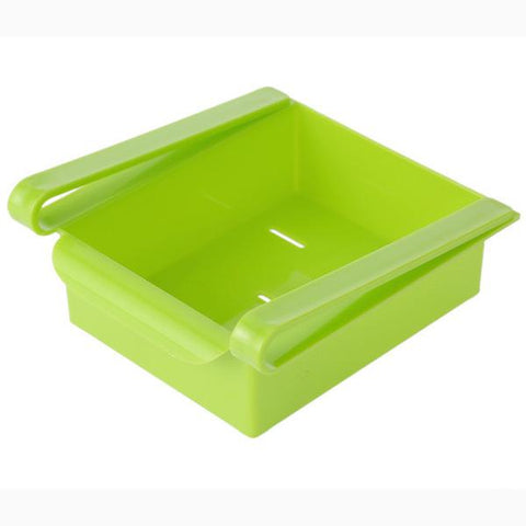 Slide Storage Boxes - Green - Add Space to Fridge, Freezer or Pantry