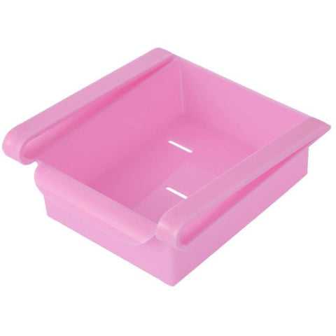 Slide Storage Boxes - Pink - Add Space to Fridge, Freezer or Pantry