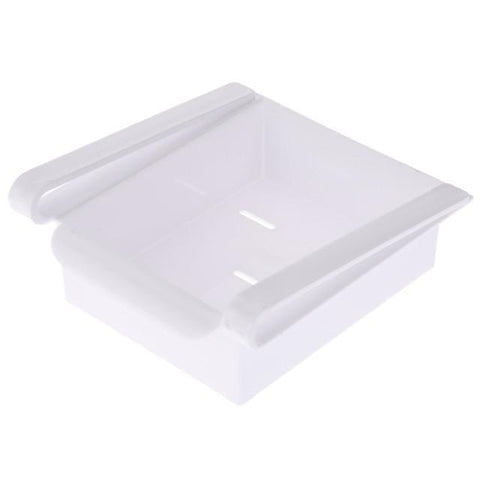 Slide Storage Boxes - White - Add Space to Fridge, Freezer or Pantry