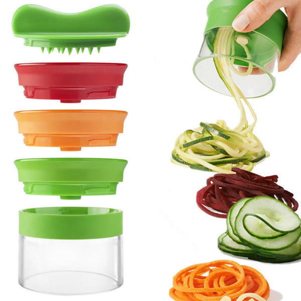 3 In 1 Vegetable Spiralizer - Stacks to Save Space in Slicers