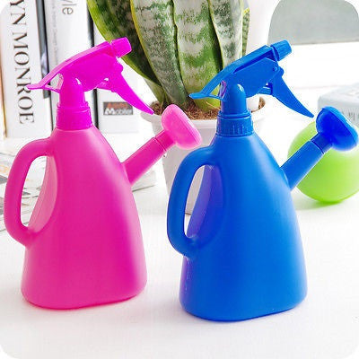 Spray Bottle with Watering Can in Kitchen Gardening
