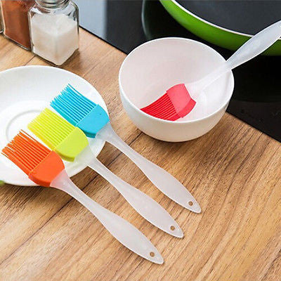 Silicone Pastry Brush - Brush Your Oil on Veggies, Meat, or Rolls in Kitchen Utensil