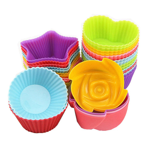 12 Piece Silicone Cupcake Liners in Bakeware