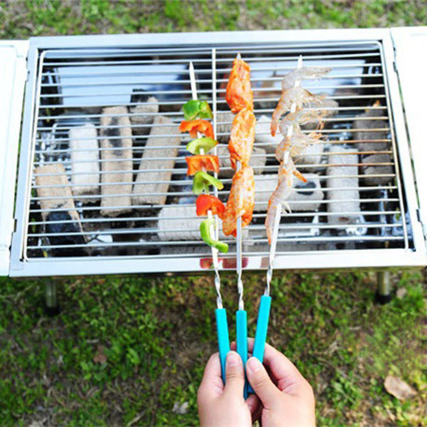 5 Piece Set Barbecue Skewer Set in BBQ