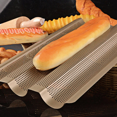 Bread Baking Tray - Great for Homemade Baguettes in Bakeware