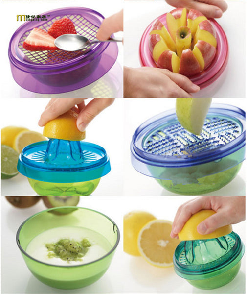 Stackable Fruit Gadget in Shredders/Presses