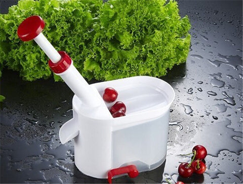 Super Cherry Pitter with Container - Doubles as a Grape Seeder in Pitters and Corers
