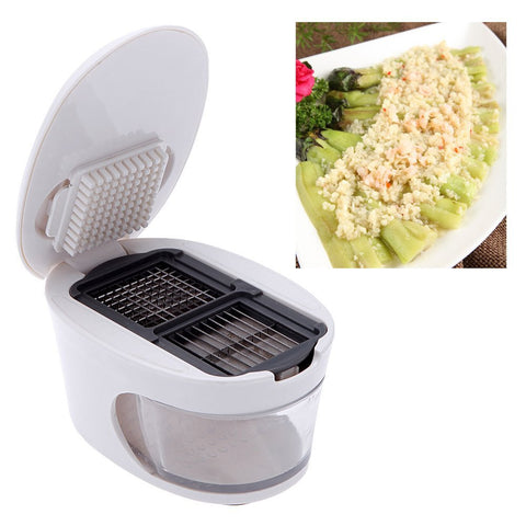 Garlic Press and Vegetable Slicer - Multi Function Space Saving Gadget in Shredders/Presses