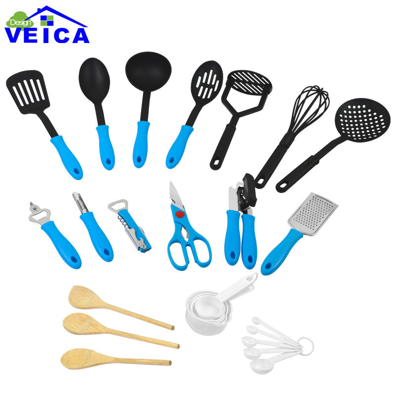 26 Piece Ultimate Kitchen Tool and Utensil Set - Blue in Kitchen Utensil