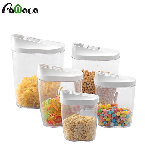 5 Piece Storage Container Set with Easy Pour Spout Lid in Organization