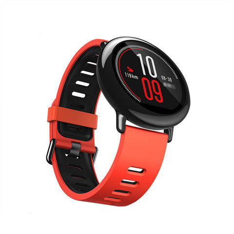 Xiaomi Amazfit Smartwatch with GPS and Heart Rate sensor - Red Orange - Jam Tangan