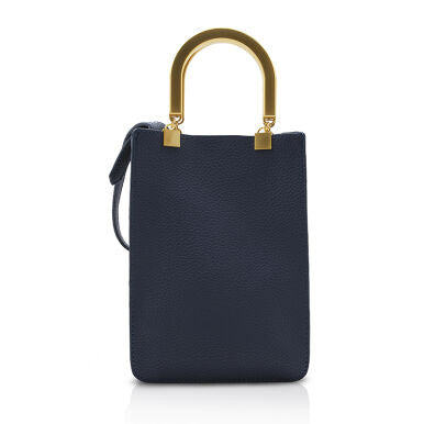 Futuristic Document Tote with Sturdy Handles - Blue