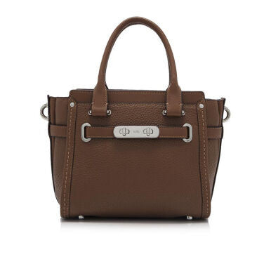 COACH Pebbled Leather Swagger 21 Carryall - Tas Tangan