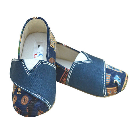 M and M BABY SHOES Slip On - Denim