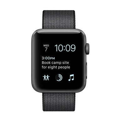 APPLE Watch Series 2 42mm Space Gray Aluminum Case with Black Woven Nylon