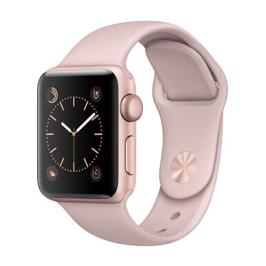 APPLE Watch Series 2 38mm Rose Gold Aluminum Case with Pink Sand Sport Band - Jam Tangan