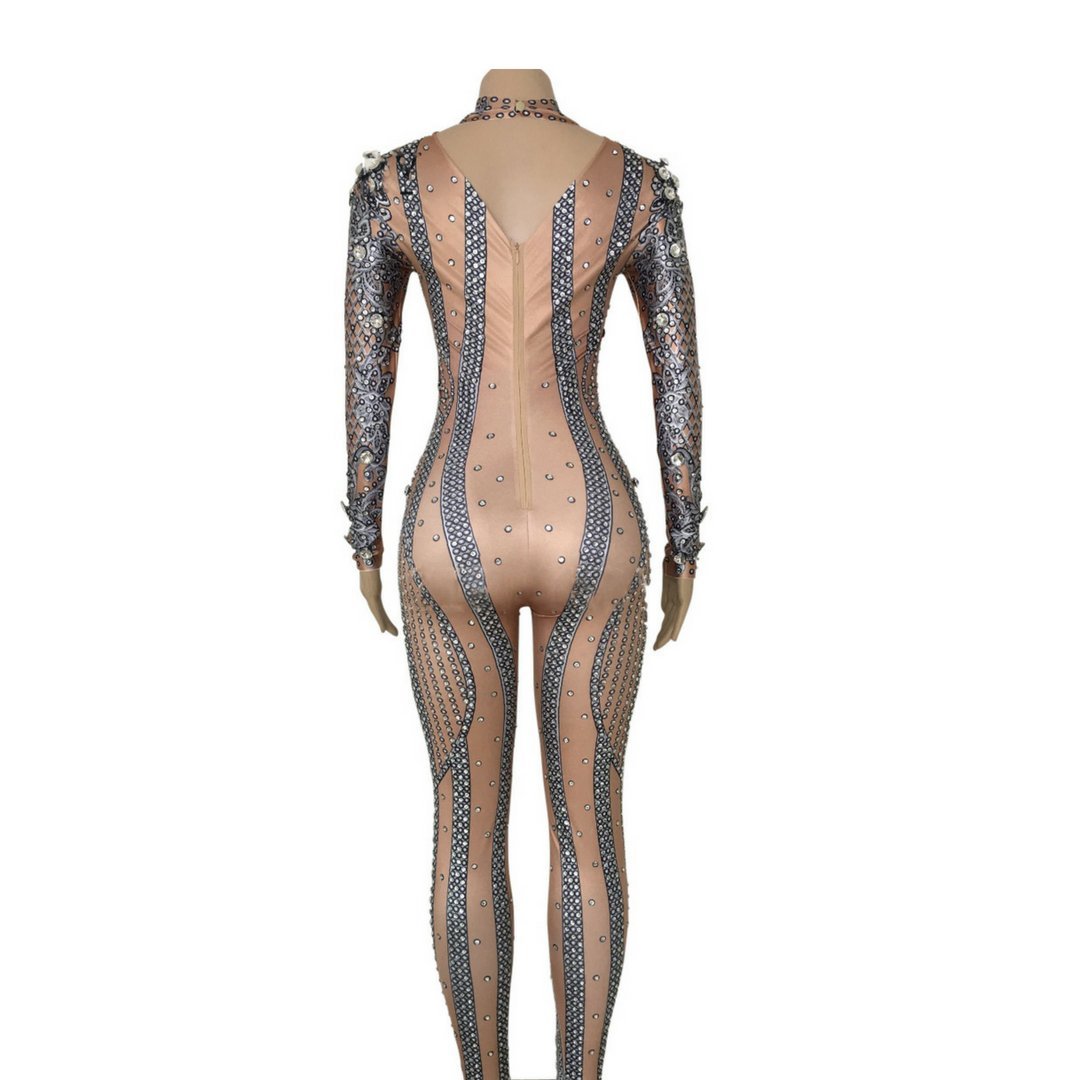 """Joan"" sequins performance bodysuit"