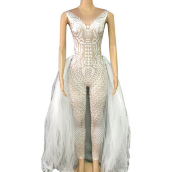 """Frosted"" performance salsa bachata dance costume"