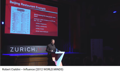"Robert Cialdini:  Author of ""Influence: The Psychology of Persuasion book (among others)"""
