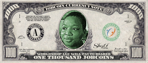 Collect the Okanta Kate Edition of the 1,000 JobCoin™ Note -- April 2017 Honoree