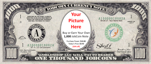 Earn your first 1,000 JobCoin™ Note