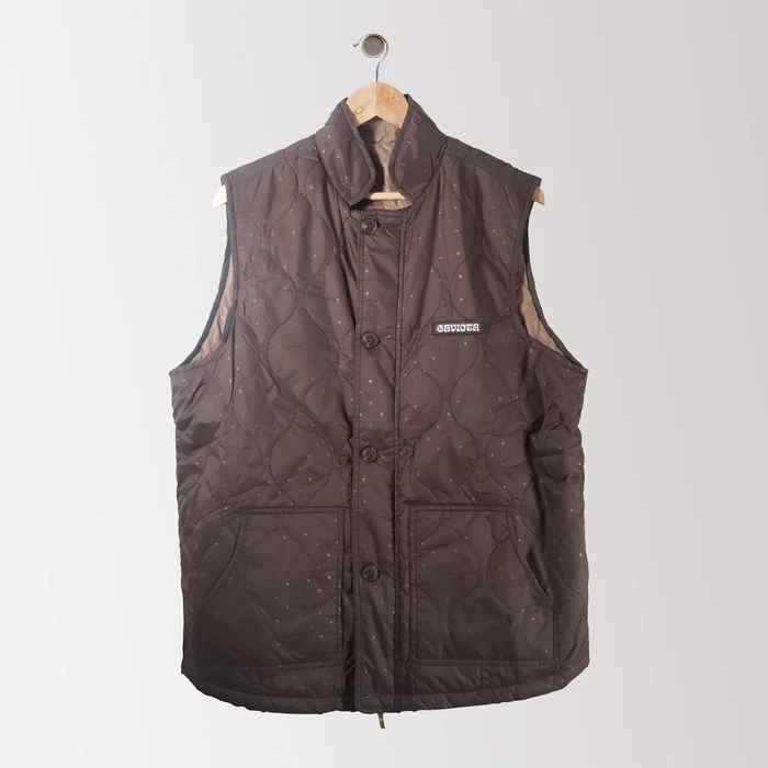 The Day Vest in Dark-Grey + Tan