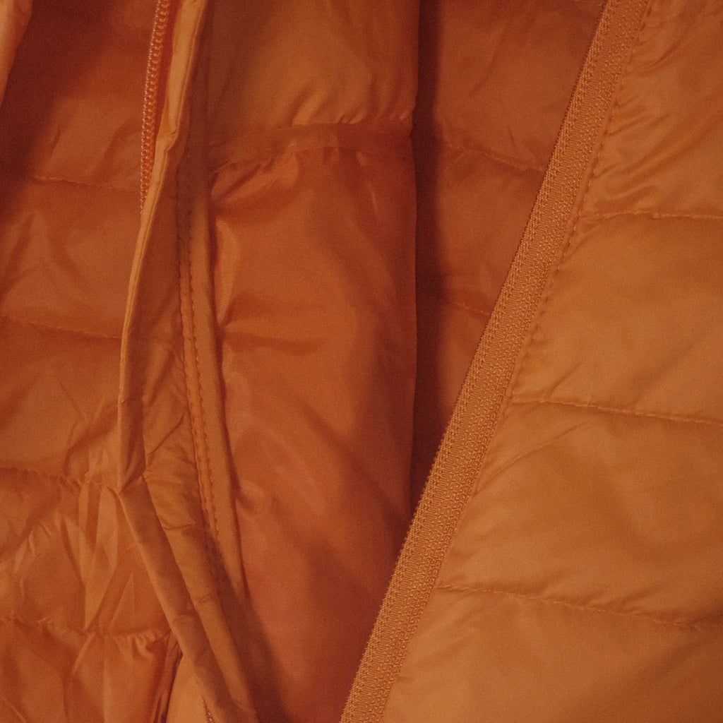 Gaviota Puffy Hooded Jackets- Burnt Oranje