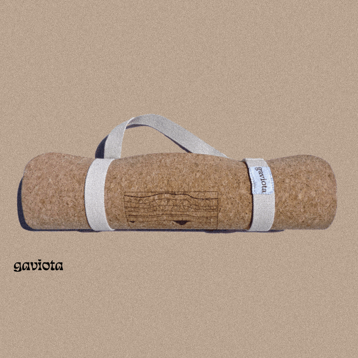 Mat and bolster made from cork
