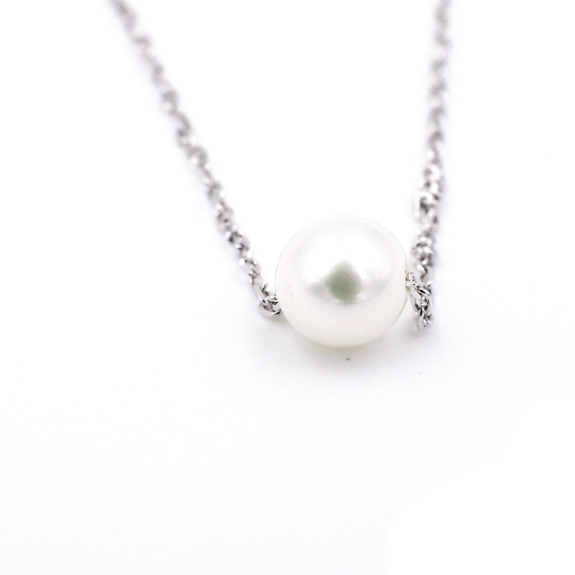 gold style pendant diamond necklace single whitegold headview pearl white sea south
