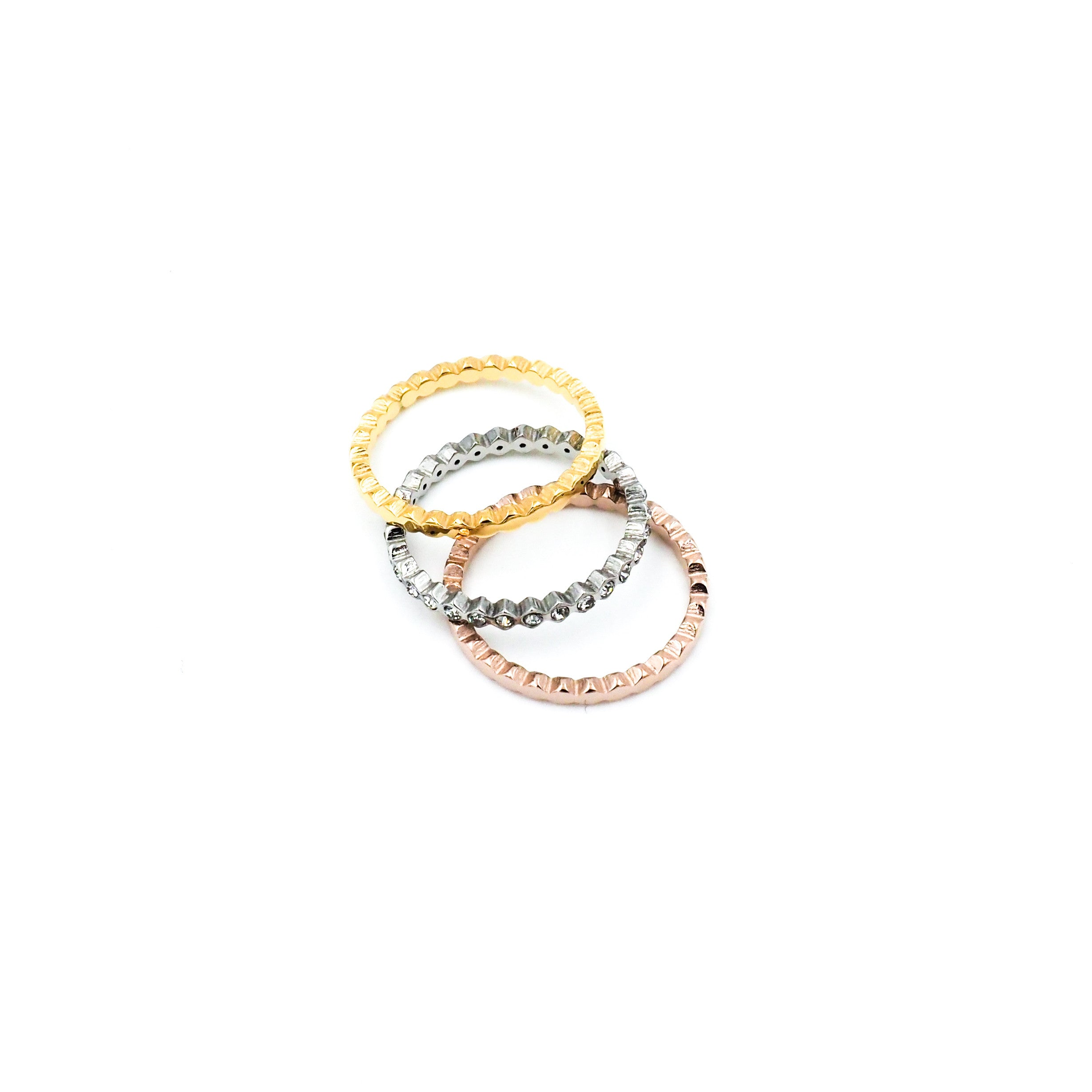 Tri-color Rings