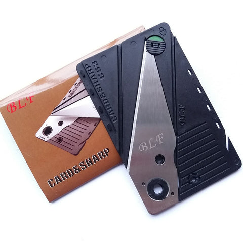 Camping Survival Pocket Wallet Safety Knife Default Title