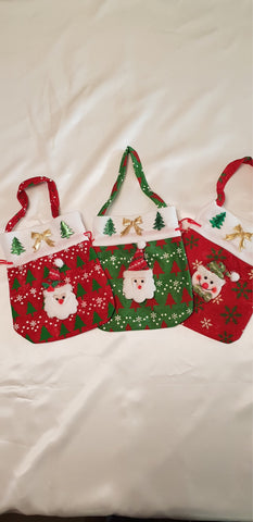 Christmas Treat Bags Red Santa