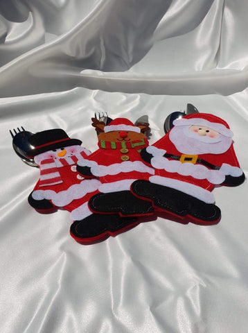 Christmas Cutlery Bag x 3 pieces