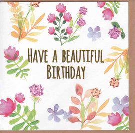 BEAUTIFUL BIRTHDAY GIFT CARD A113