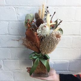DRIED FLOWER JAR