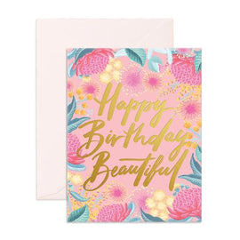HAPPY BIRTHDAY BEAUTIFUL GREETING CARD