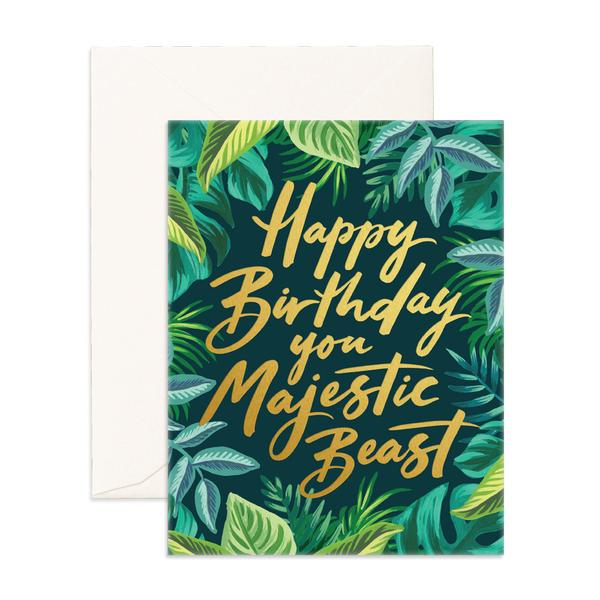 MAJESTIC BEAST GREETING CARD