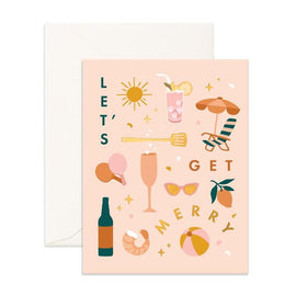 LET'S GET MERRY GREETING CARD