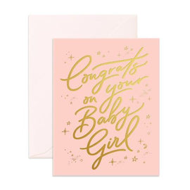 CONGRATS ON YOUR BABY GIRL GIFT CARD