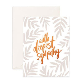 WITH DEEPEST SYMPATHY GIFT CARD