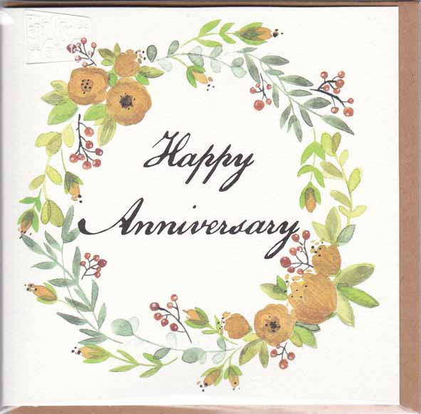 HAPPY ANNIVERSARY GIFT CARD A121